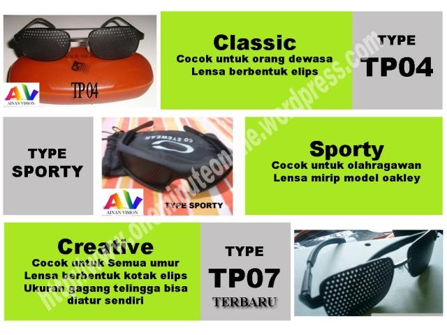 kacamata terapi  type TP04 TP07 TPsporty